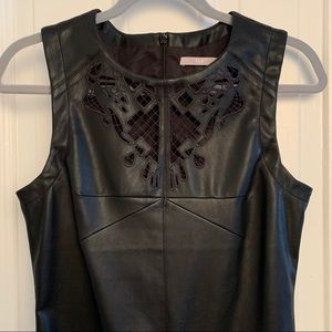 Faux Leather Dress w/ Details and Cutouts NWOT